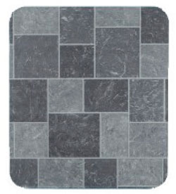Grey Faux Slate Tile Stove Board